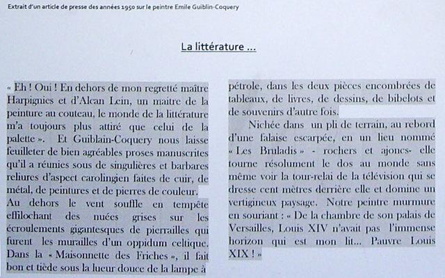 E.G.C tableaux (4)